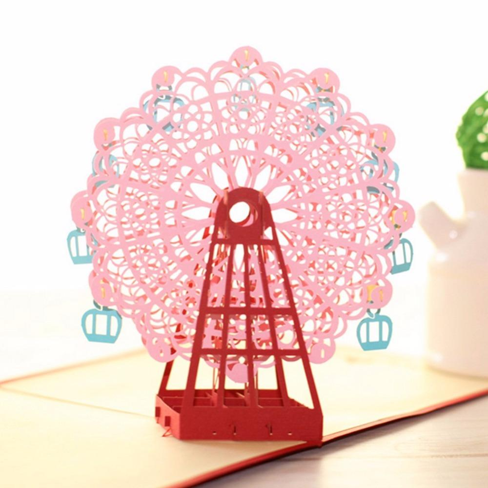 Wholesale Diy 3d Greeting Card With Envelope Pop Up Cute Birthday
