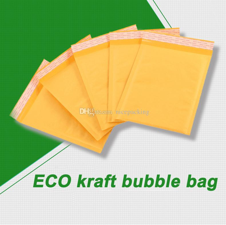 mini order small size Kraft Bubble Mailers Envelopes Wrap Bags Padded Envelope Mail Packing Pouch