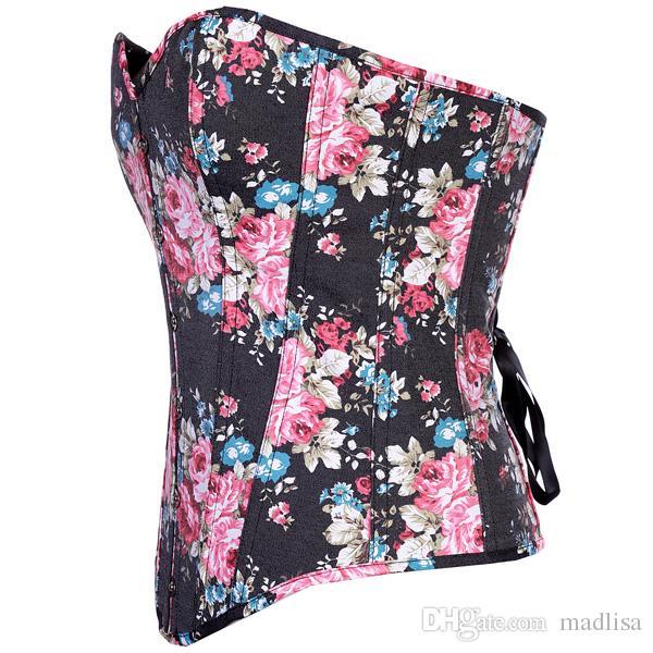Bella ragazza Yong in azione Articolo a buon mercato all'ingrosso a buon mercato Donna Sexy Stretto corsetto colorato Top a consumare 0858