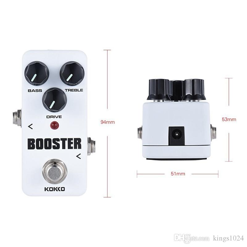 KOKKO FBS2 Mini Booster Pedal Portable 2-Band EQ Guitar Effect Pedal High Quality Guitar Parts & Accessories guitar accessories