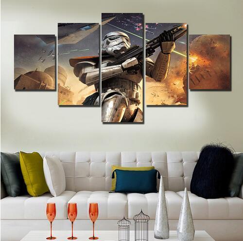 Nuevo Hot 5 unidsThe Sunset Seascape Imprimir pintura al óleo foto lienzo de pintura en la pared fotos para sala de estar decoración colgar pinturas