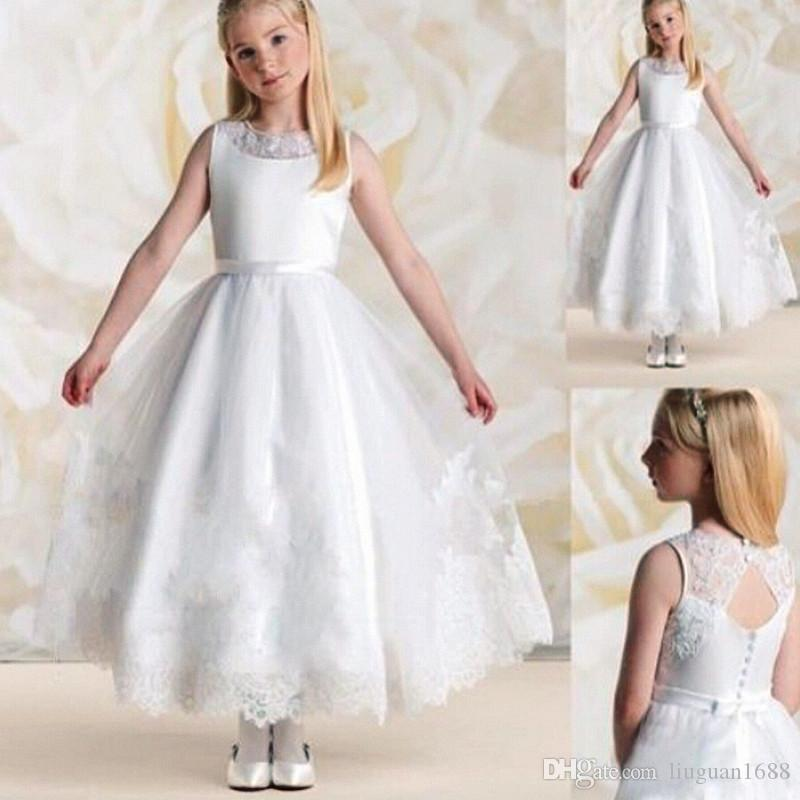 2018 Flower Girl Dress For Wedding Party New Style Halter Princess ...