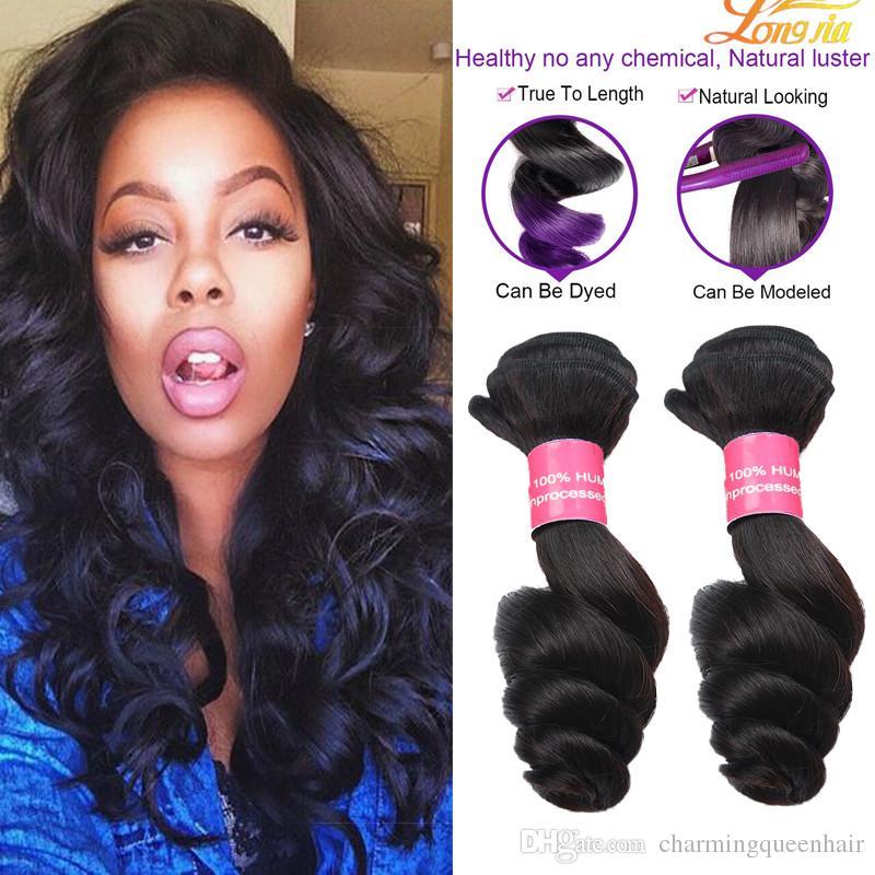 8a Brazilian Loose Wave Virgin Hair Extension Unprocessed Brazilian