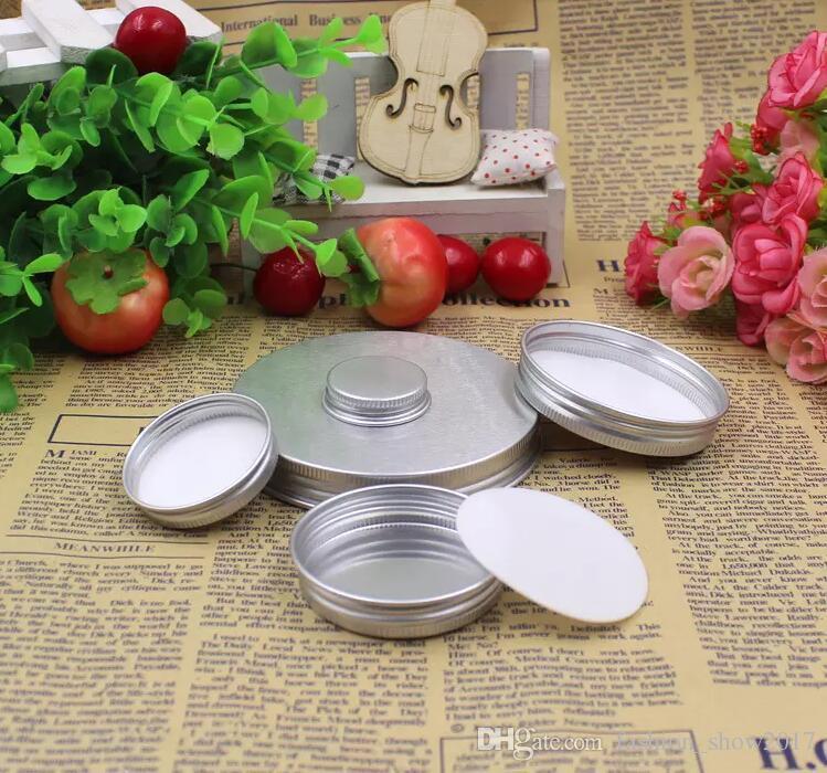 Boş Alüminyum Krem Kavanoz Kalay 5 10 15 30 50 100g Kozmetik Dudak Balsamı Konteynerler Tırnak Dür Konum El Sanatları Pot Şişe