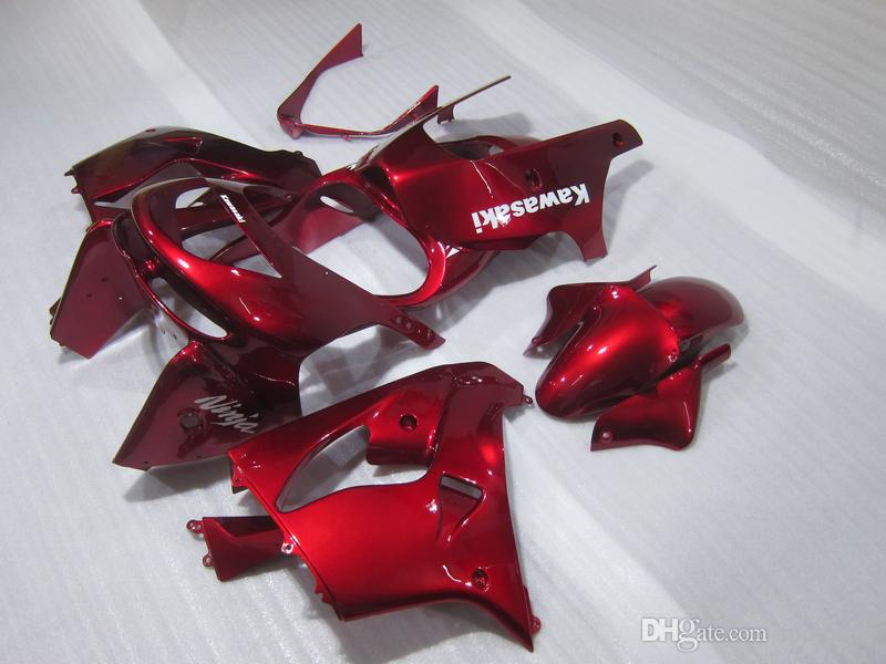 Libre modifica el kit para requisitos particulares del carenado para el ninja de Kawasaki ZX9R 98 99 carenados rojos del vino fijados ZX9R 1998 1999 OT19