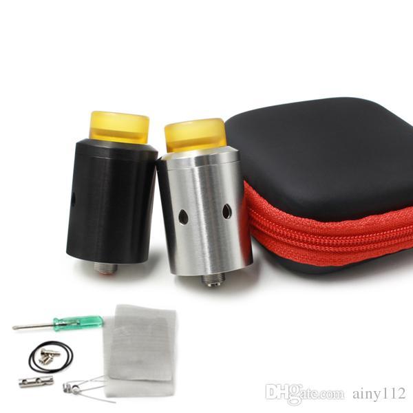 Vaporizer CETO RDA Atomizesr 24MM Diameter Silver Black Adjustable Airflow Kennedy Drip tips Fit 510 E Cigarettes DHL Free