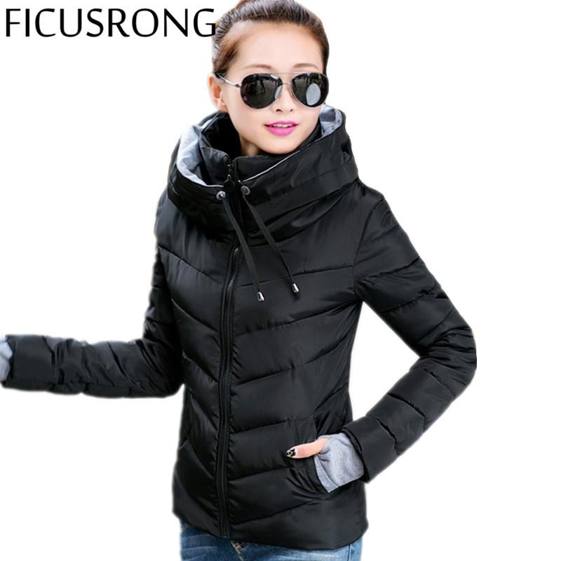 37acf1c640d Wholesale FICUSRONG Winter Jacket Women Parka Winter Outerwear Plus Size  Down Cotton Coat Short Slim Cotton Padded Jackets And Coats TFR1 Avirex  Leather ...