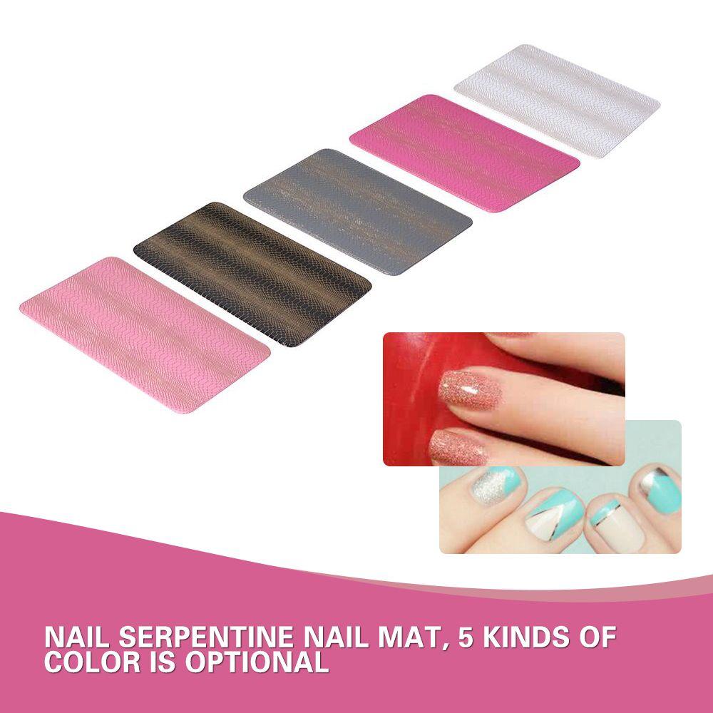 5 Style Snake Skin Leather Nail Art Mat Anti Slip Rough Surface