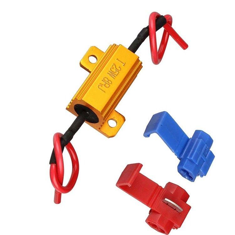 4X 25W 8Ohm Car LED DRL Fog Turn Singal Load Resistor for Fix LED Bulb Fast Hyper Flash Turn Signal Hot Selling