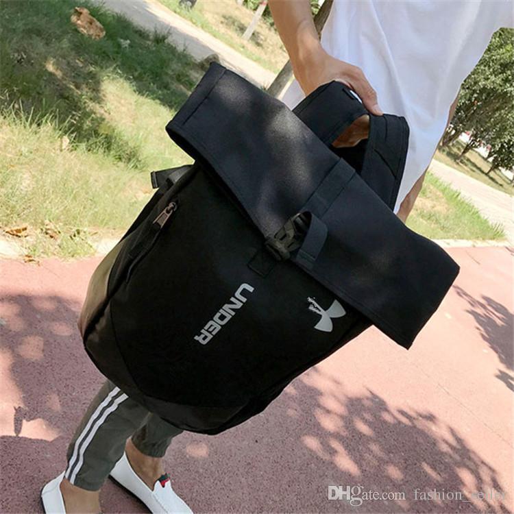 Moda U A Teenager Bag Hombres Mujeres Mochila Casual Camping Mochilas Adultos Impermeables Viajes Bolsas Al Aire Libre Negro Envío Rápido