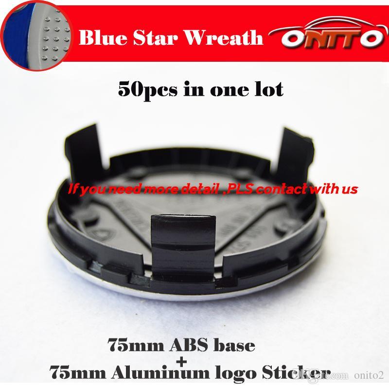 Tapas del centro de la rueda del emblema del coche 75MM ABS para W2 W203 W204 W121 W201 W202 W212 W220 W220 W205 GLA CLA ruedas del hud del emblema automático cubre BASE NEGRA