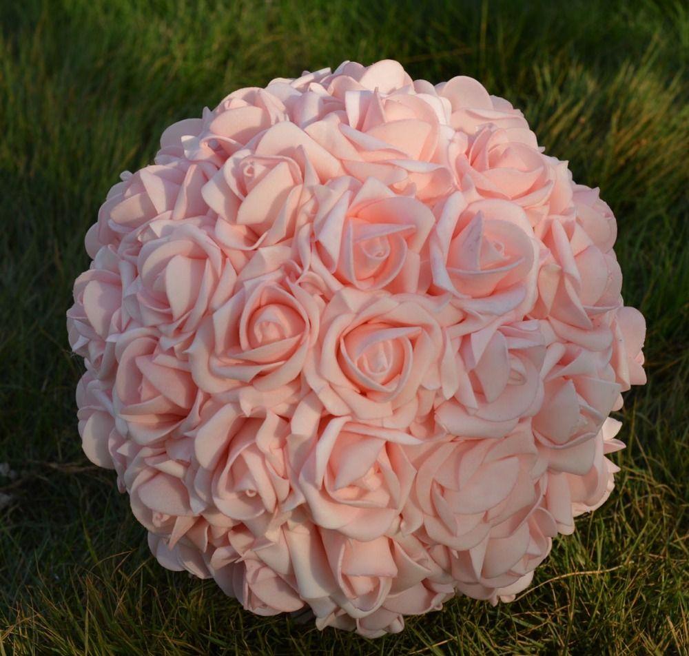 2018 9\'\' 23cmartificial Rose Kissing Flower Ball Wedding Flower ...