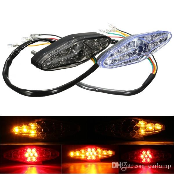 Motorcycle 15 LED Rear Tail Brake Stop Running Turn Signal Light ATV Dirt Bike Universal for Suzuki/Honda/Kawasaki