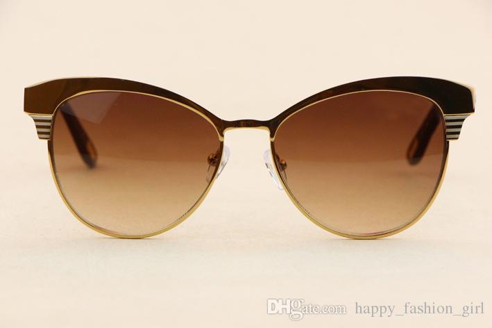 ovaler Goldrahmen elegante Frauensonnenbrille 398 Art und Weise bequeme Mannbrillen Anti-UV400