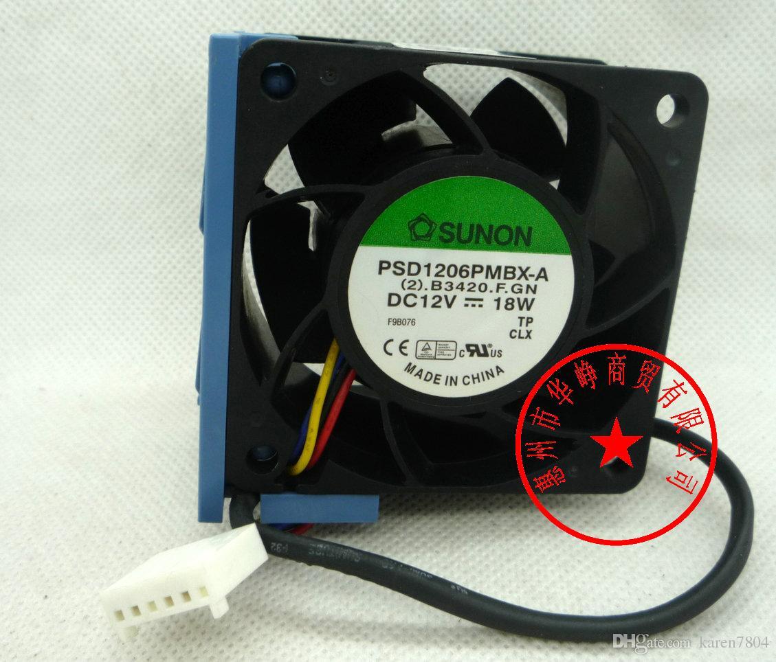 NMB 6038 2415KL-04W-B86 12V 1.65A för Dell PowerEdge 2850 Serverfläkt, PSD1206PMBX-A AVC 2B06038B12G 60 * 60 * 38mm