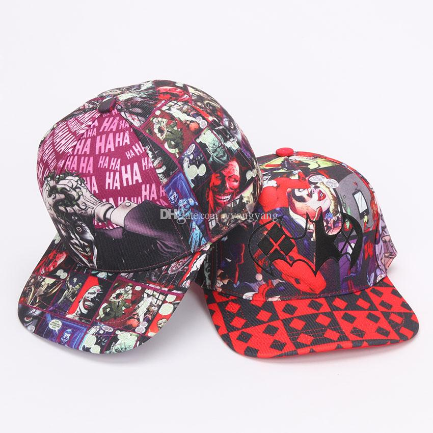 Suicide Squad Harley Quinn Joker Hat Fashion Adjustable Baseball Cap Flat Snapback  Hat Man Women Hip Hop Caps For Christmas Gift Canada 2019 From Yyangyang 1e3de16c533f