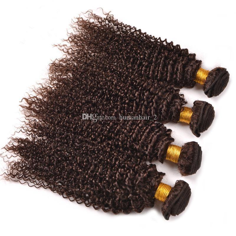 Nuovo stile brasiliano marrone capelli ricci trama estensioni dei capelli umani non trasformati cholochate colore marrone afro crespi capelli arricciati 3 pz / lotto