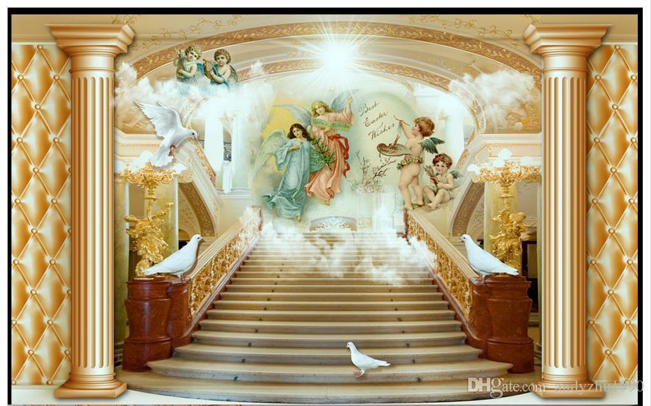 3D фото обои на заказ 3D настенные росписи Ангел лестница фрески гостиная ТВ стены 3d гостиная декор стен