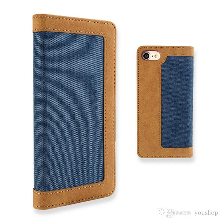 For iphone 7 Wallet Case PU Leather Folio Flip Case Cover Magnetic Stand with Card Slots Holder for iphone 7 Plus