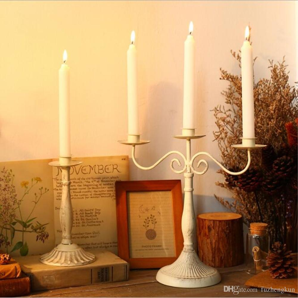 New Arrival Romantic Retro White Candlestick Candlelight Dinner ...