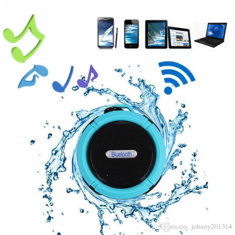 C6 Динамик Bluetooth Динамик Беспроводной Питьевой Аудио Плеер Водонепроницаемый Динамик Крюк И Присоски Стерео Музыкальный Плеер С Розничной Упаковке