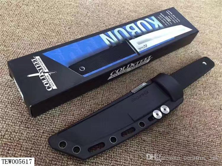 Nuovo arrivo Cold Steel 17T KOBUN Survival Stright coltello Tanto Point Raso Lama Utility Fixed Blade Knife Caccia utensili a mano