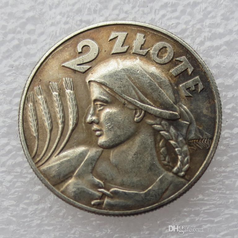 2020 Poland Coin 1925 Zniwiarka 2 Zlote Copy Coin Brass