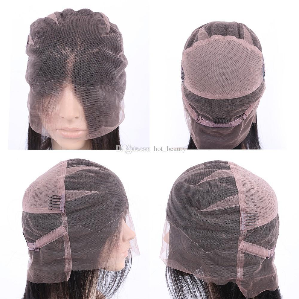 Pelucas delanteras del cordón de la onda de agua Pelucas llenas del cabello humano del cordón para las mujeres negras Peluca brasileña Pelucas mojadas y onduladas del pelo humano del frente del cordón