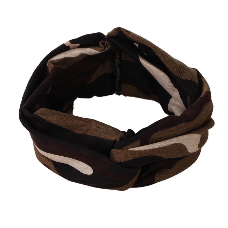 Moda donna elastico turbante attorcigliato fascia annodata Boho etnico floreale ampia elasticità accessori capelli ragazza all'ingrosso