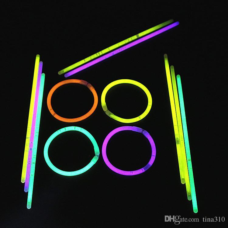 قلائد سوار عصى متوهج متعدد الألوان