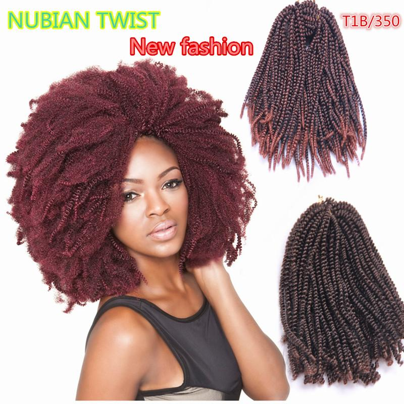 2018 Hot Sale 16inch Nubian Twist Spring Curl Crochet Braids
