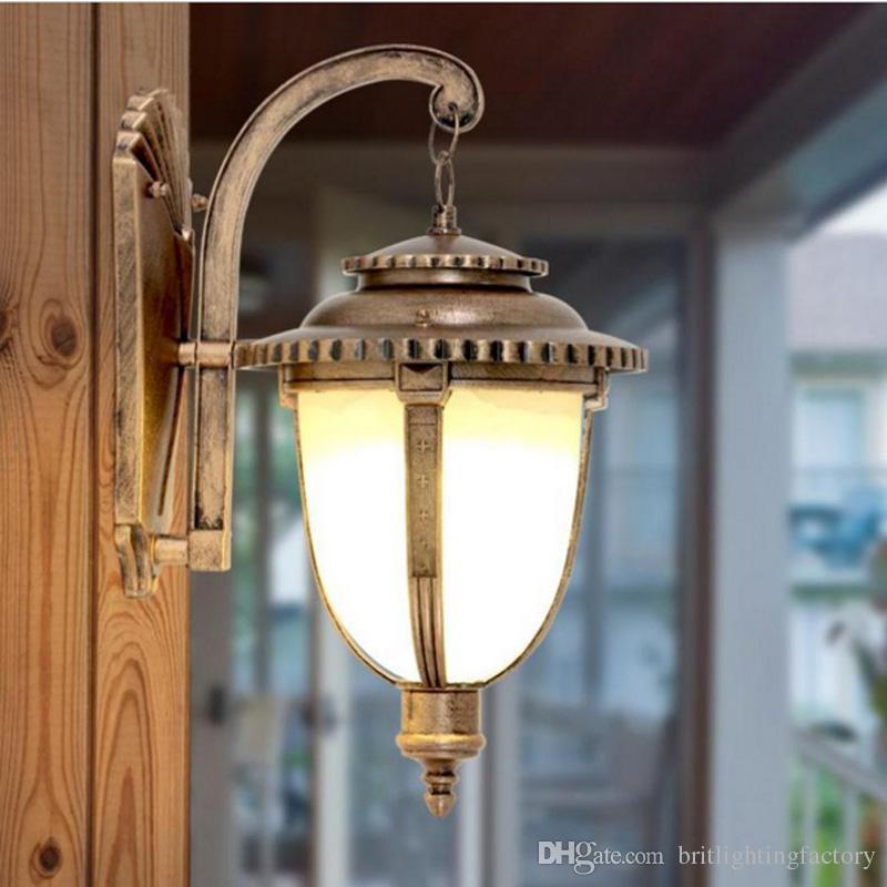 Bronze Wall Lamp Chinese Led Lights Indoor Decorative Lights Outdoor Wall Lights Shades Vintage Bar Coffee Shop Restaurant Ktv Wall Lamps From