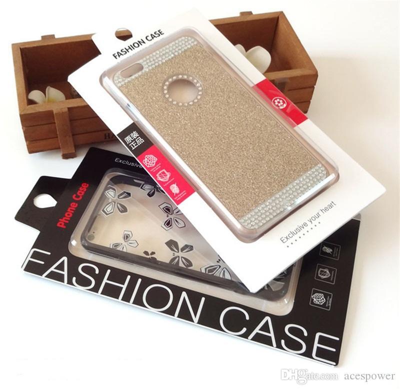 Универсальный чехол для мобильного телефона Упаковка из бумаги Розничная упаковка Коробка с внутренней вставкой для iPhone Samsung HTC Сотовый телефон Fit 4.7-5.5 дюймов