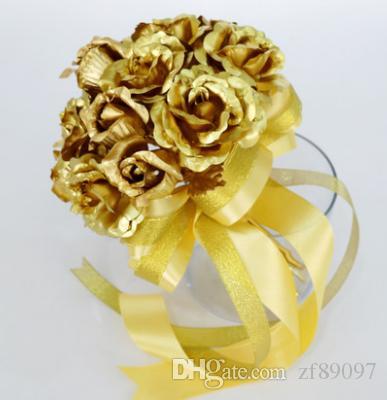 Grosshandel Hochwertige Chinesische Hochzeitsstrauss Goldene Hochzeit