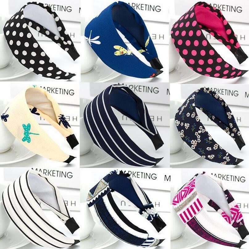 Hot sale Hair band cloth wide edge hoop simple sweet Liuhai pressure hairpin jewelry headdress TG058 a