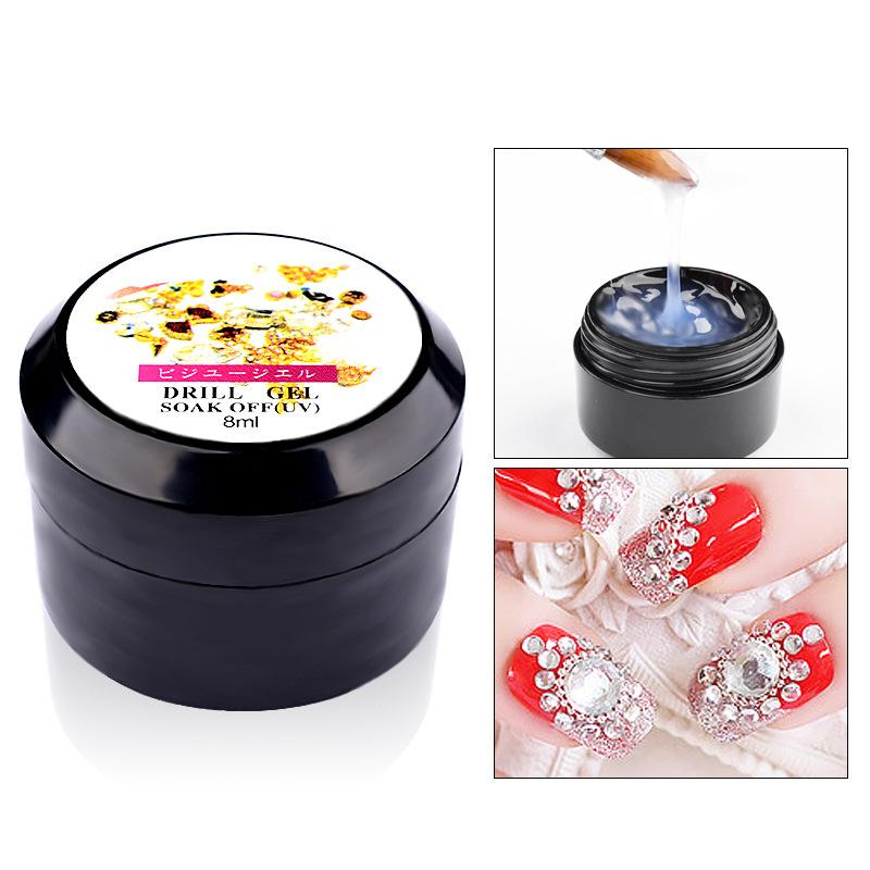 New Nail Art Gel Glue Nail Decorations Beads Sequins Rhinestones ...