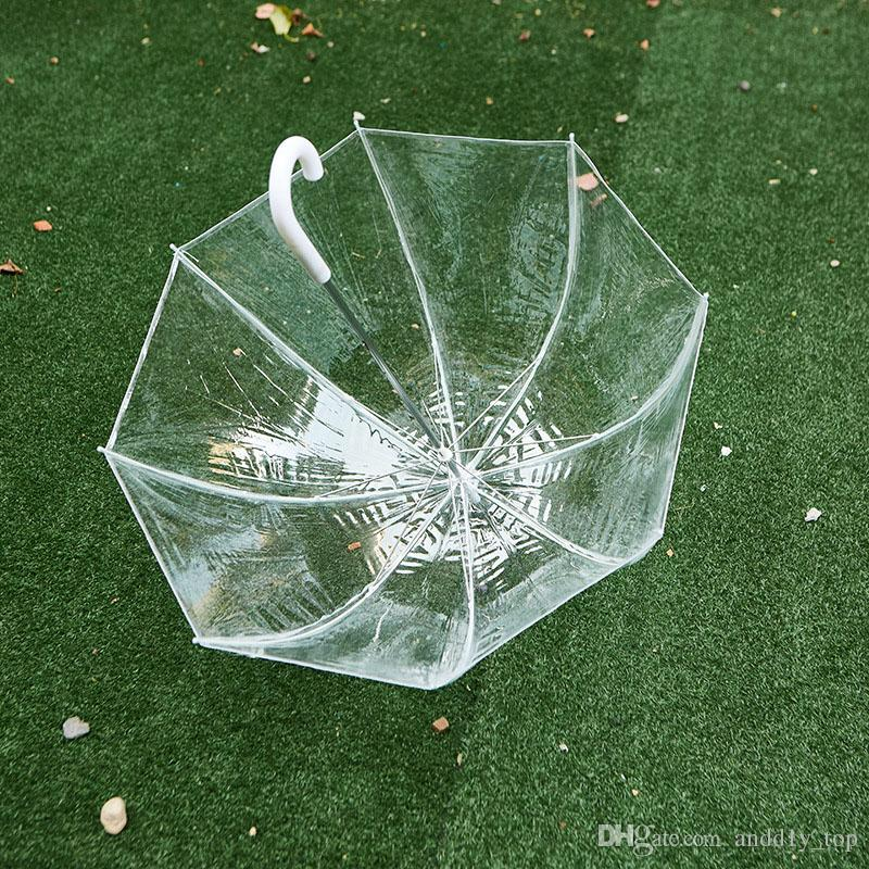 "34"" Clear Umbrella Big Bubble Deep Dome Cute Gossip Girl Transparent Umbrellas Wind Resistance High Quality"