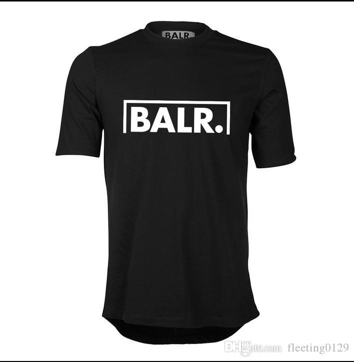 Livraison Gratuite Sport Football BALR T Shirts Hommes Soccer balr Homme T-Shirt Coton O Cou Hommes Tops Euro Taille