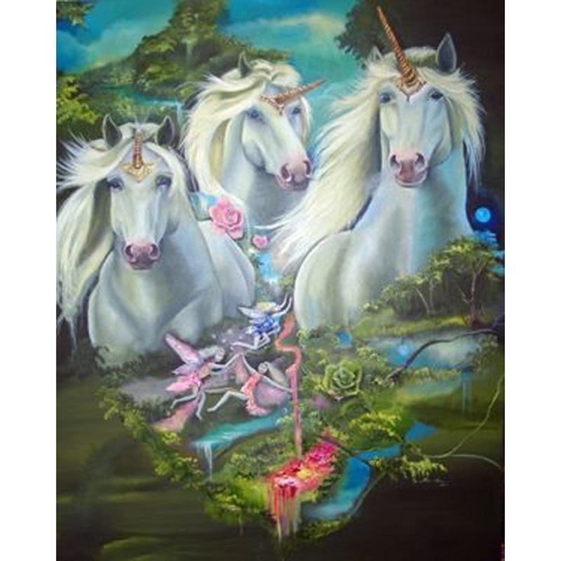 Satın Al Güzel Unicorn Diy Elmas Boyama Nakış 5d çapraz Dikiş