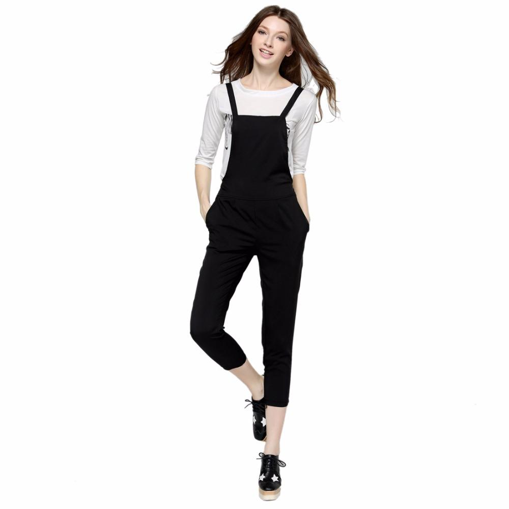 a169874eb3 2019 Wholesale New Arrival Women T Shirts Jumpsuits Sets Animal Printed  White T Shirts Black Pants Sets Casual Tops Strap Long Playsuits AE001 From  Xaviere