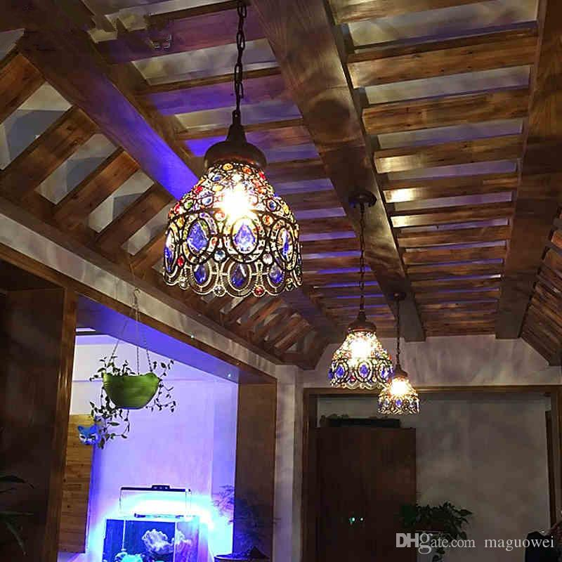 Coffee shop chandelier mediterranean style crystal chandelier coffee shop chandelier mediterranean style crystal chandelier restaurant aisle bar balcony corridor lights postage free bohemia exotic chandelier online aloadofball Choice Image