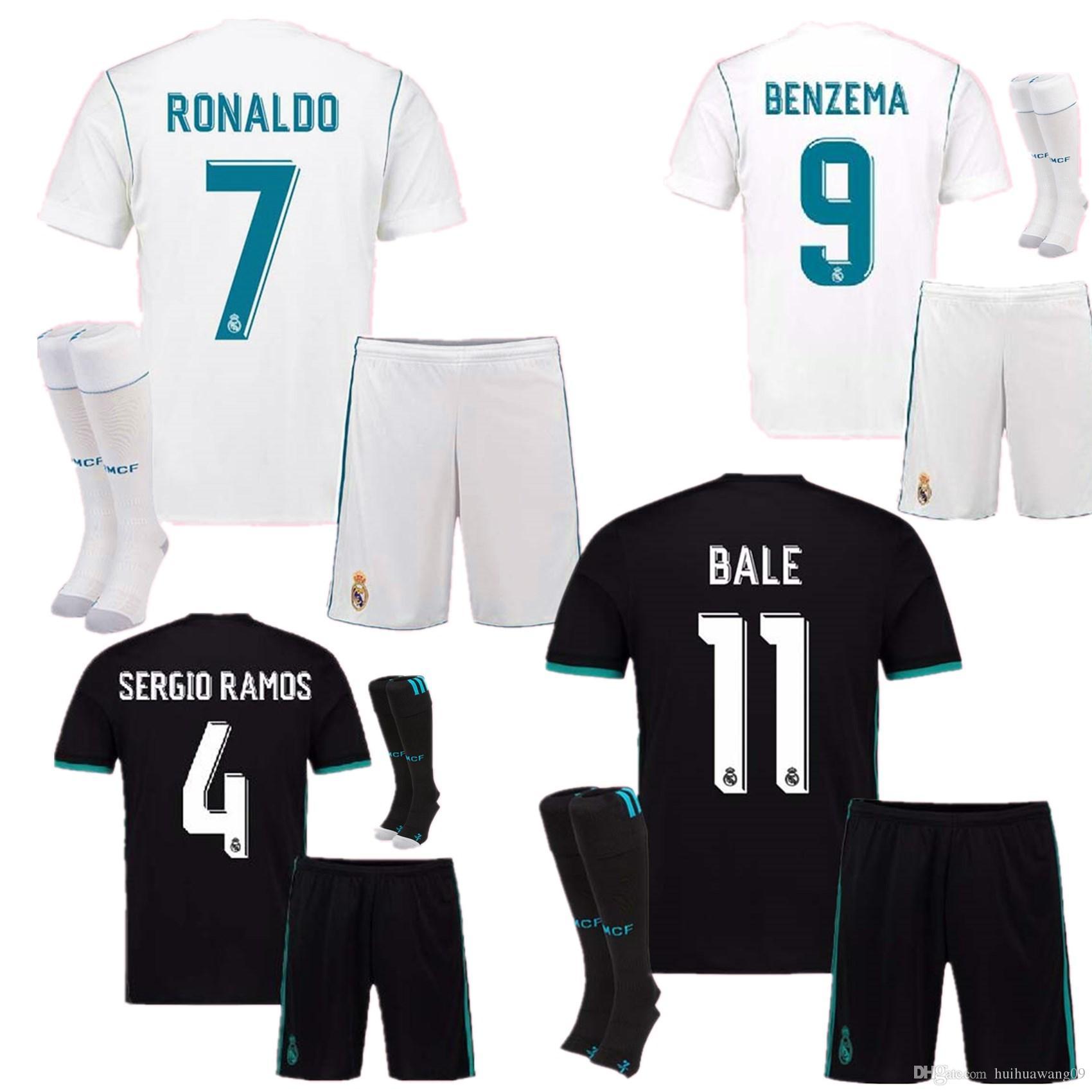 ebf2e87fe94 ... authentic patch custom jersey black 26f7b 44779 wholesale 17 18 real  madrid soccer jersey kit uniform