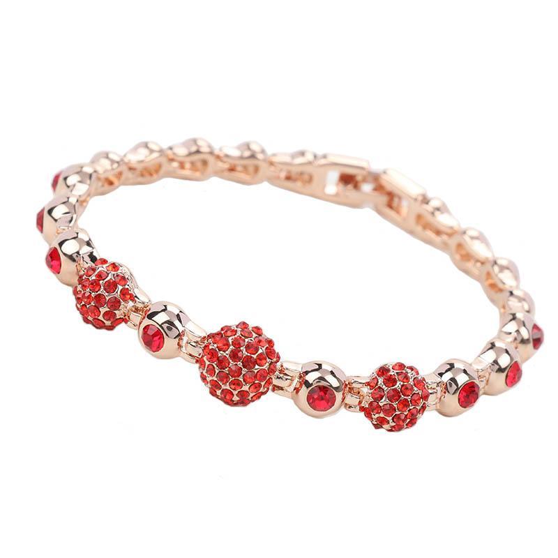 f0da5da94335c 18 Colors Crystal Bracelet Silver Gold Plated Bangle Cuff Wristband Fashion  Jewelry Gift for Women Drop Shipping
