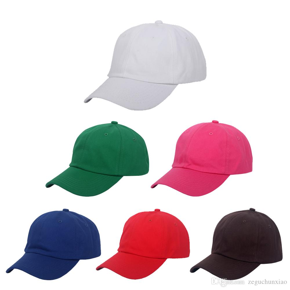 Unstructured Cotton Baseball Cap With Plain Hat Polo Style Adjustable Strap  Back Dad Hat For Men And Women Accept Logo Custom Make Your Own Hat  Basecaps ... 7542e305914