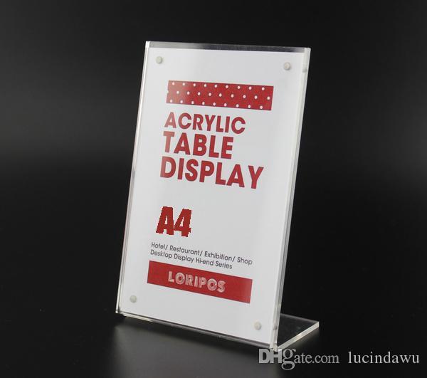 Compre 21 * 29.7 Cm A4 Vertical De Acrílico Etiqueta Magnética ...