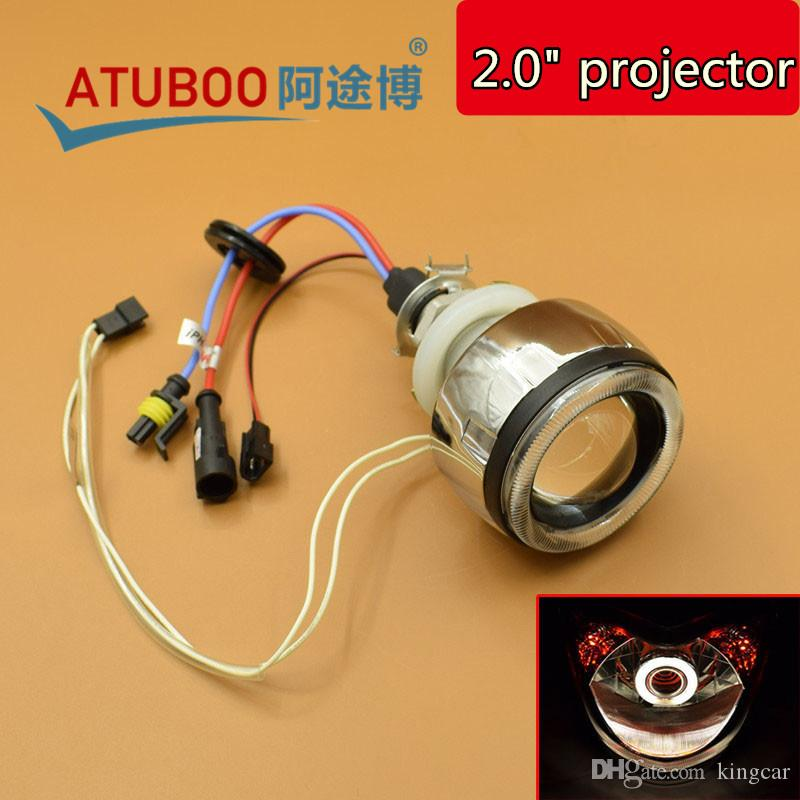 12v 35w 2 0 motorcycle projector lens kit with ccfl angel eyes halo rh dhgate com
