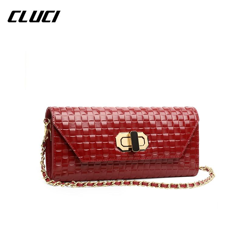 5d4614bbf9 Wholesale CLUCI 2016 New Women Shoulder Bags Chain High Quality Hasp Hard  Good Leather Flap Solid Vrouwen Messenger Bags Fashion Hot Fiorelli Handbags  ...