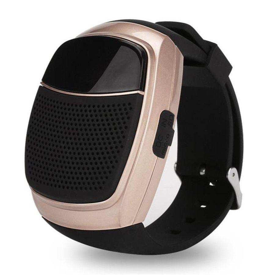 newest B90 Bluetooth speaker Sports Watch Portable Mini MP3 Music Bluetooth Watch Speakers FM Radio stereo sundbar DHL