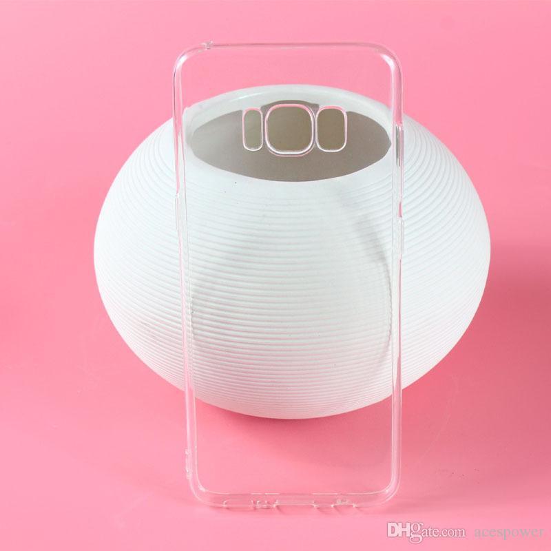 Para iPhone 11 Pro XR XS MAX Capa Macio Clear Cobertura 1.0mm TPU Silicon Gel para Samsung Galaxy S10 Nota 10 Plus
