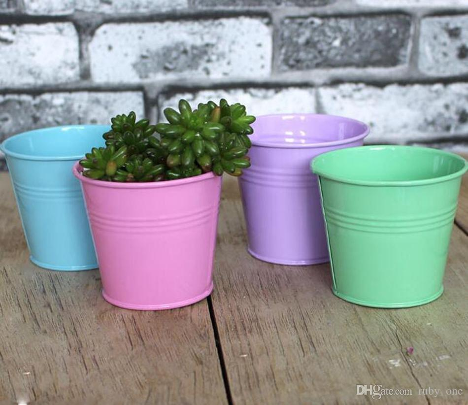 Beau Online Cheap Metal Iron Bucket Flower Pots Planting Pot Flower Pot  Gardening Pots Plant Flowerpot Succulents Container Ooa1573 By Ruby_one |  Dhgate.Com